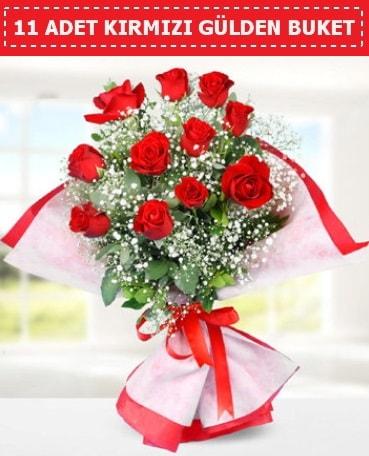 11 Adet Kırmızı Gül Buketi  Aksaray internetten çiçek siparişi
