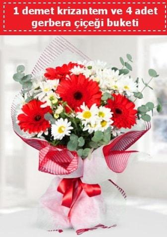 Krizantem ve Gerbera Buketi  Aksaray çiçek siparişi sitesi