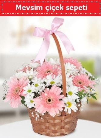Mevsim kır çiçek sepeti  Aksaray çiçek , çiçekçi , çiçekçilik